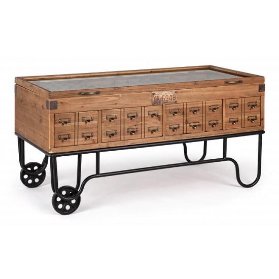 Tavolini Da Salotto Vintage.Vivereverde Tavolino Espositore C Ruote Kompart Tavolini Da
