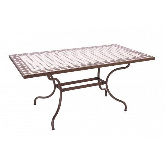 Tavoli E Sedie Da Giardino In Ferro.Vivereverde Tavolo Duke 160x90 Tavoli E Sedie Da Giardino
