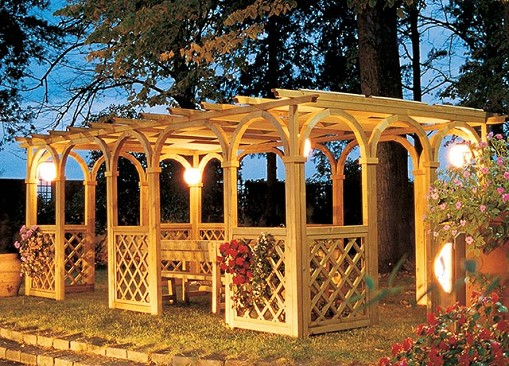 Vivereverde online shop arredi da giardino arredamento for Arredo per giardino in legno