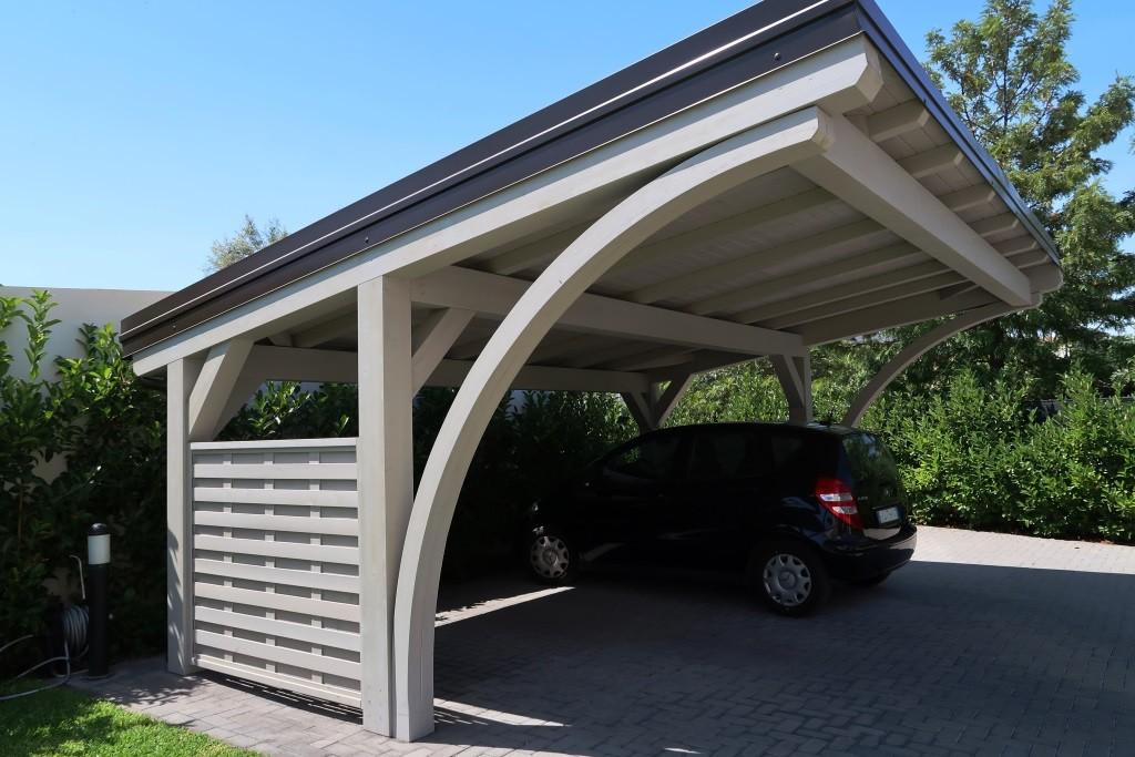 Vivereverde strutture in legno prezzi strutture in for Carport box auto legno lamellare prezzi