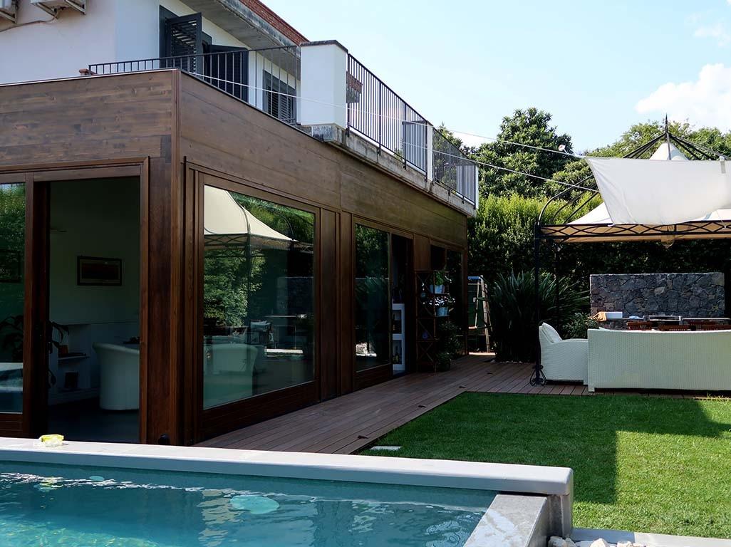Credenza Per Veranda : Vivereverde veranda in legno lamellare