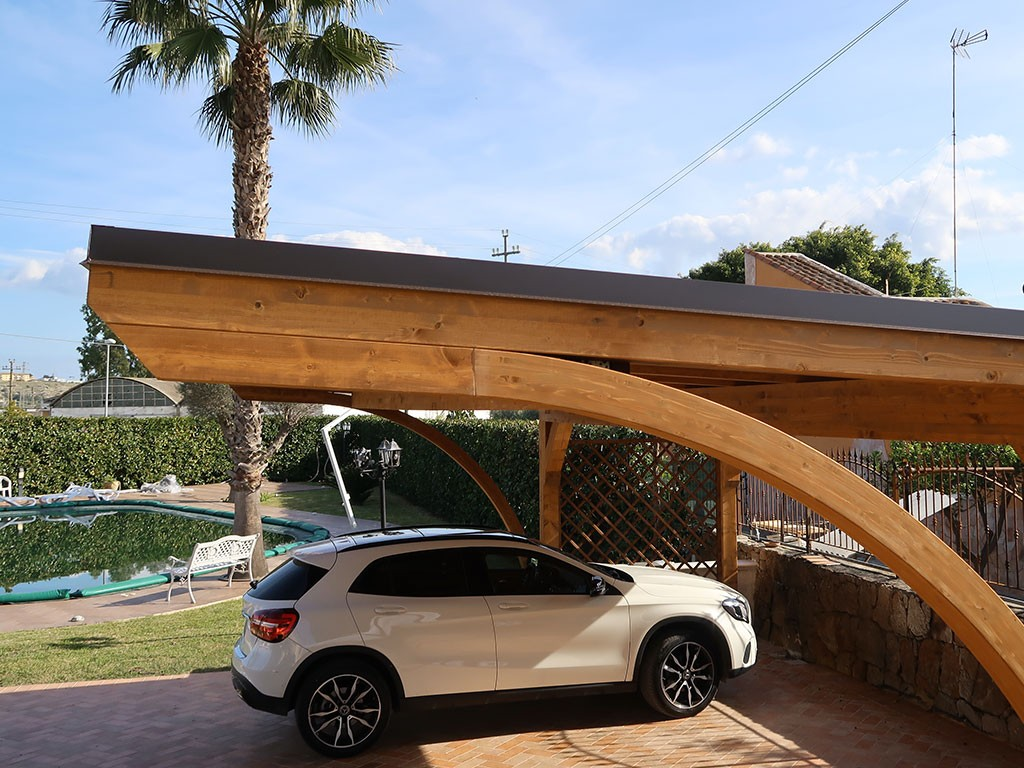 Vivereverde Carport In Legno Carport In Legno Per Auto Carport