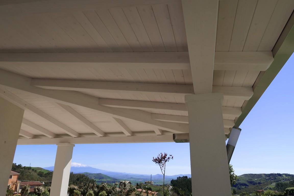 Vivereverde copertura in legno per giardino copertura in legno per terrazzo tettoia legno - Copertura terrazzo fai da te ...