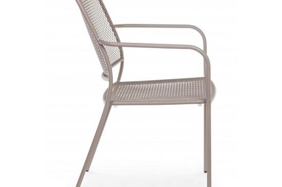 Vivereverde sedia con braccioli kristen sedie da for Sedie per esterno in ferro
