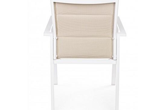 Vivereverde sedia con braccioli terry sedie da giardino
