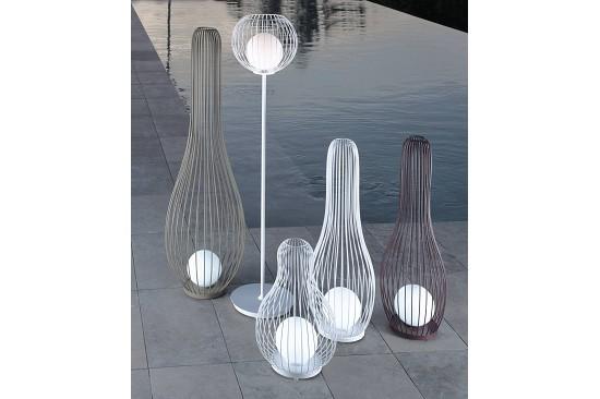 Vivereverde lampada da terra milo fabric illuminazione da