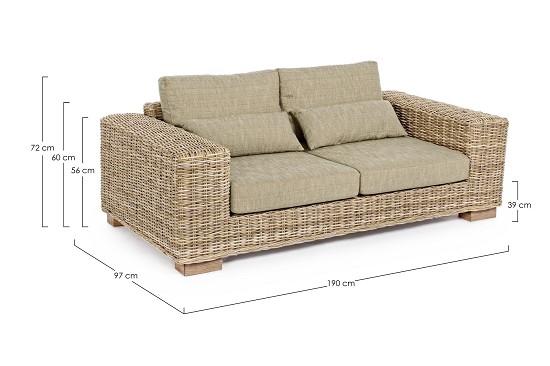 Divani in midollino per interni cheap divani e salotti da esterno e interno di questo - Divani in rattan per interno ...
