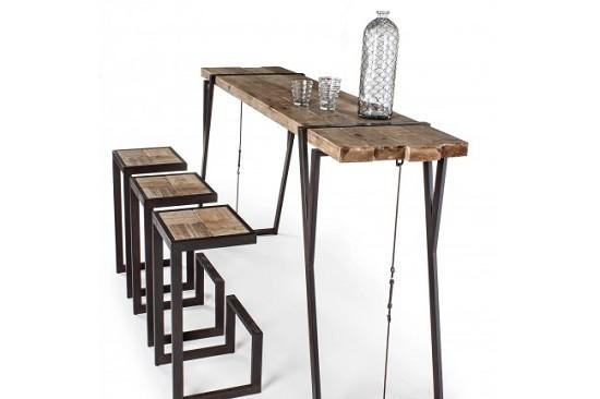 Vivereverde tavolo bar blocks tavoli in legno da interno tavoli e panche da interno - Tavoli pieghevoli da interno ...