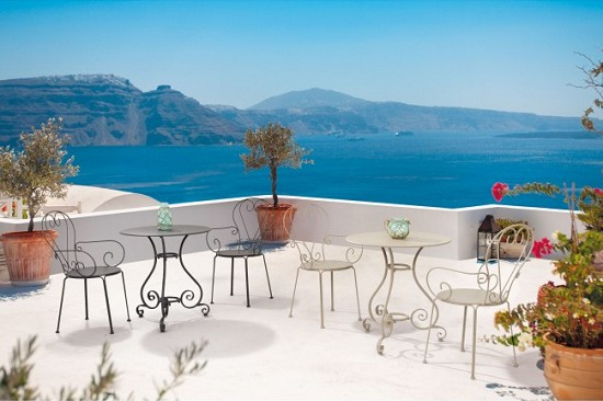 Vivereverde | Tavolo Etienne D70 | tavoli da giardino 3 ...