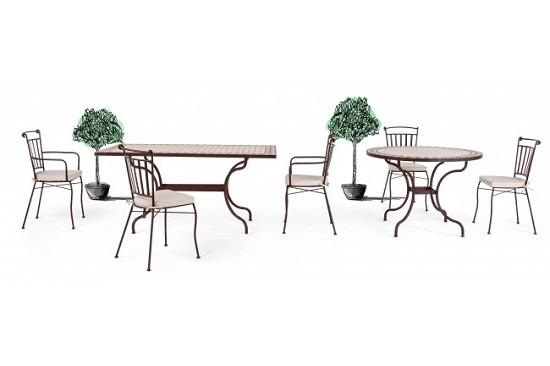 Vivereverde   Tavolo Duke 160x90   Tavoli E Sedie Da Giardino   Tavolo Da  Giardino Per 12 Persone   Tavoli Da Giardino In Ferro