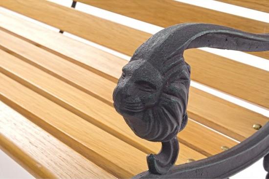 Panchine Da Giardino Legno E Ghisa : Vivereverde panca lion ghisa panchine da giardino ferro