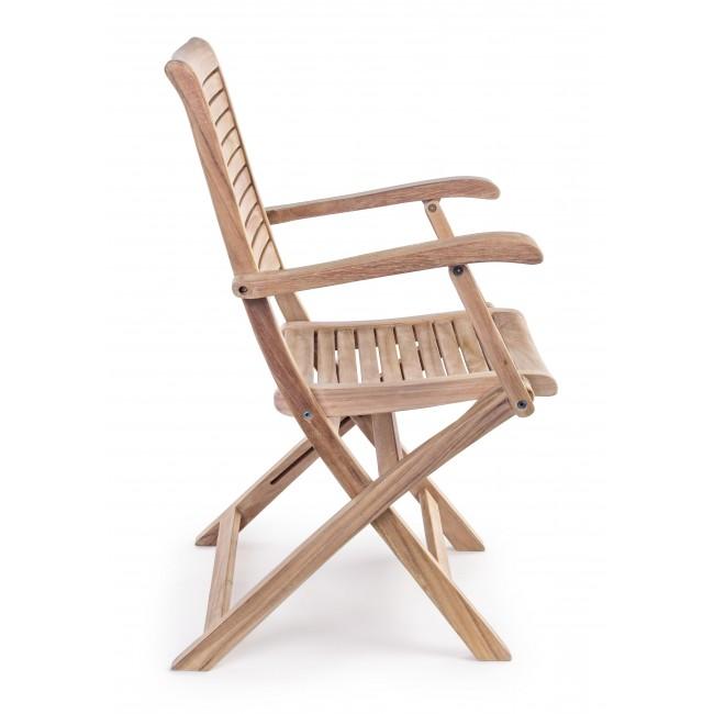 Tavoli Pieghevoli Mondo Convenienza.Vivereverde Sedia Con Braccioli Maryland Sedie Da Giardino