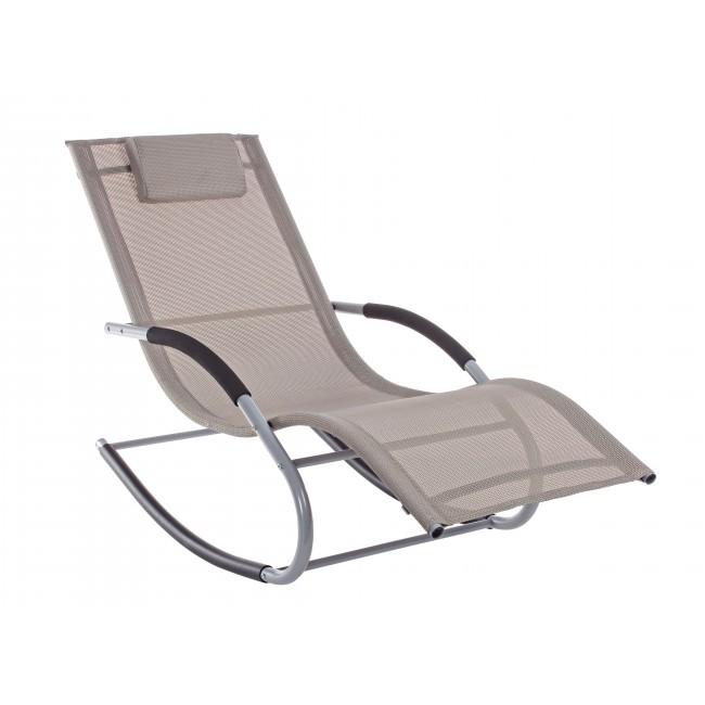 Vivereverde chaise longue dondolo roger sdraio da for Sdraio da giardino