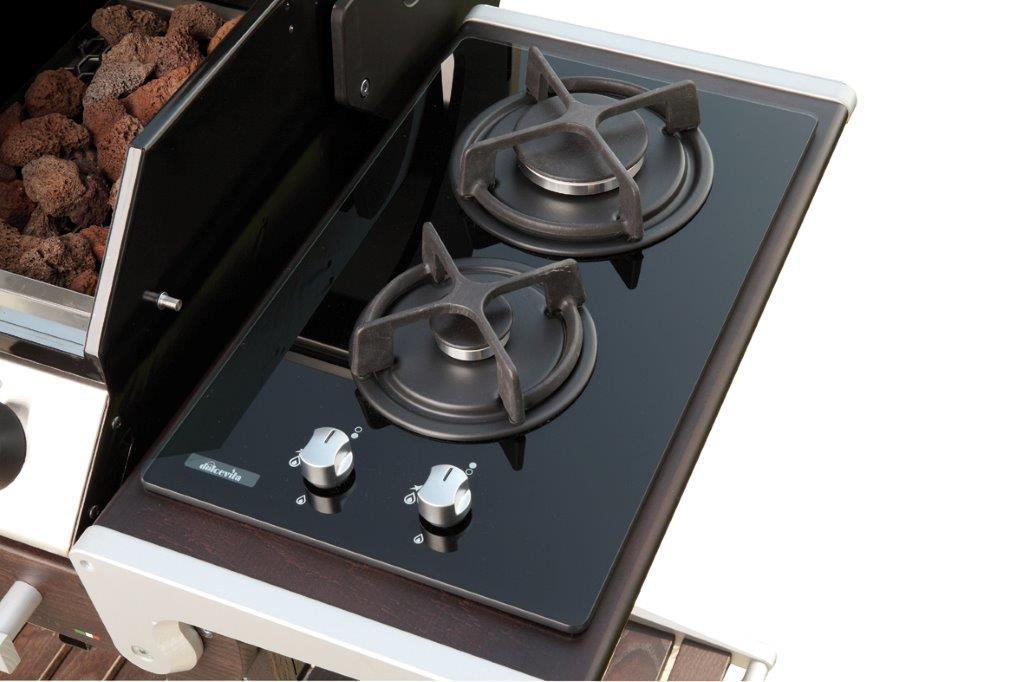 Vivereverde piano cottura 2 fuochi per dolcevitaego barbecue da interno barbecue design - Piano cottura da esterno ...
