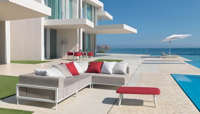Divani Per Esterni Usati : Vivereverde divano angolo cleocollection alu divani per