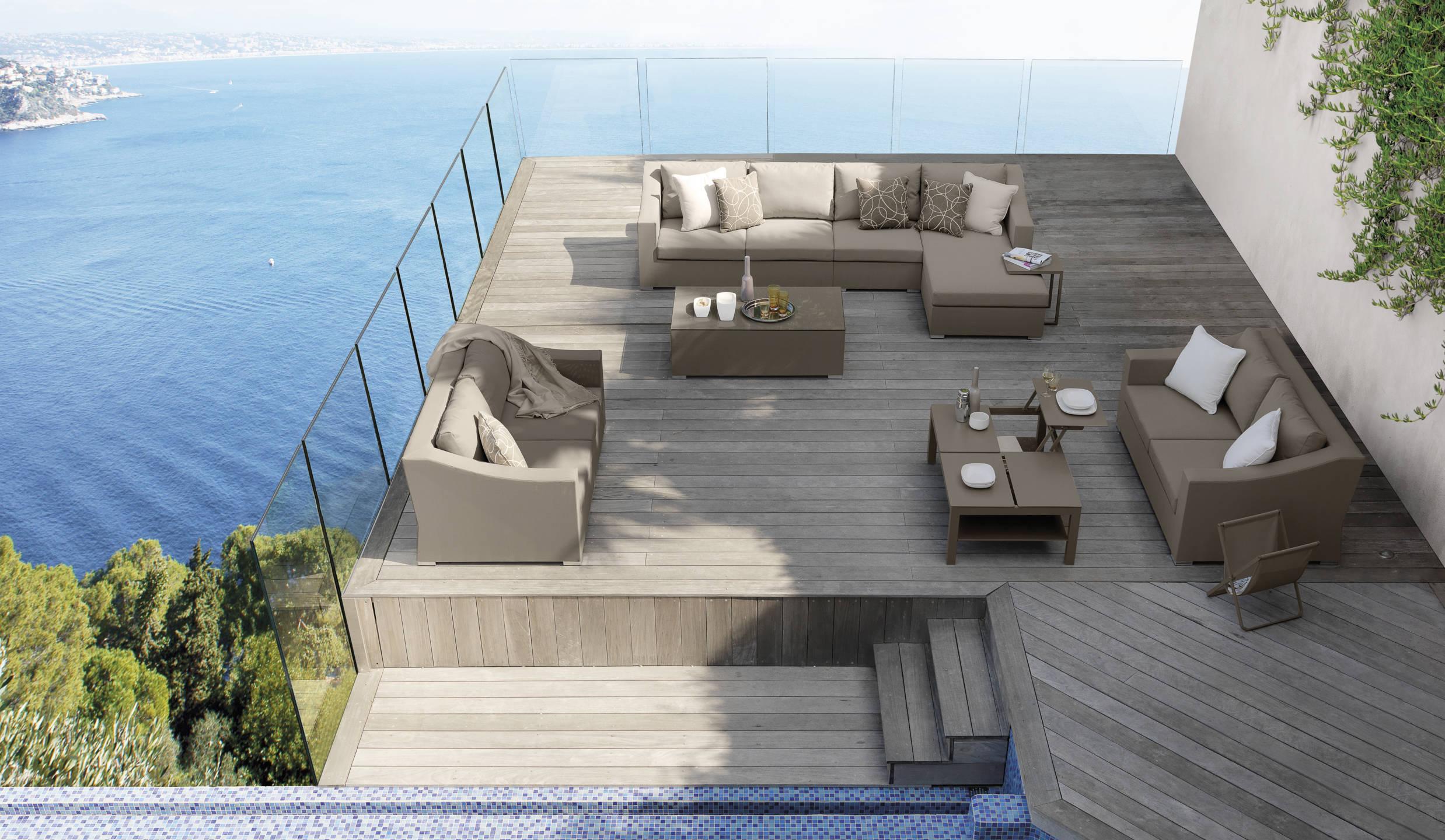 Divani Per Esterni In Plastica : Vivereverde angolo chiccollection divani per esterno in