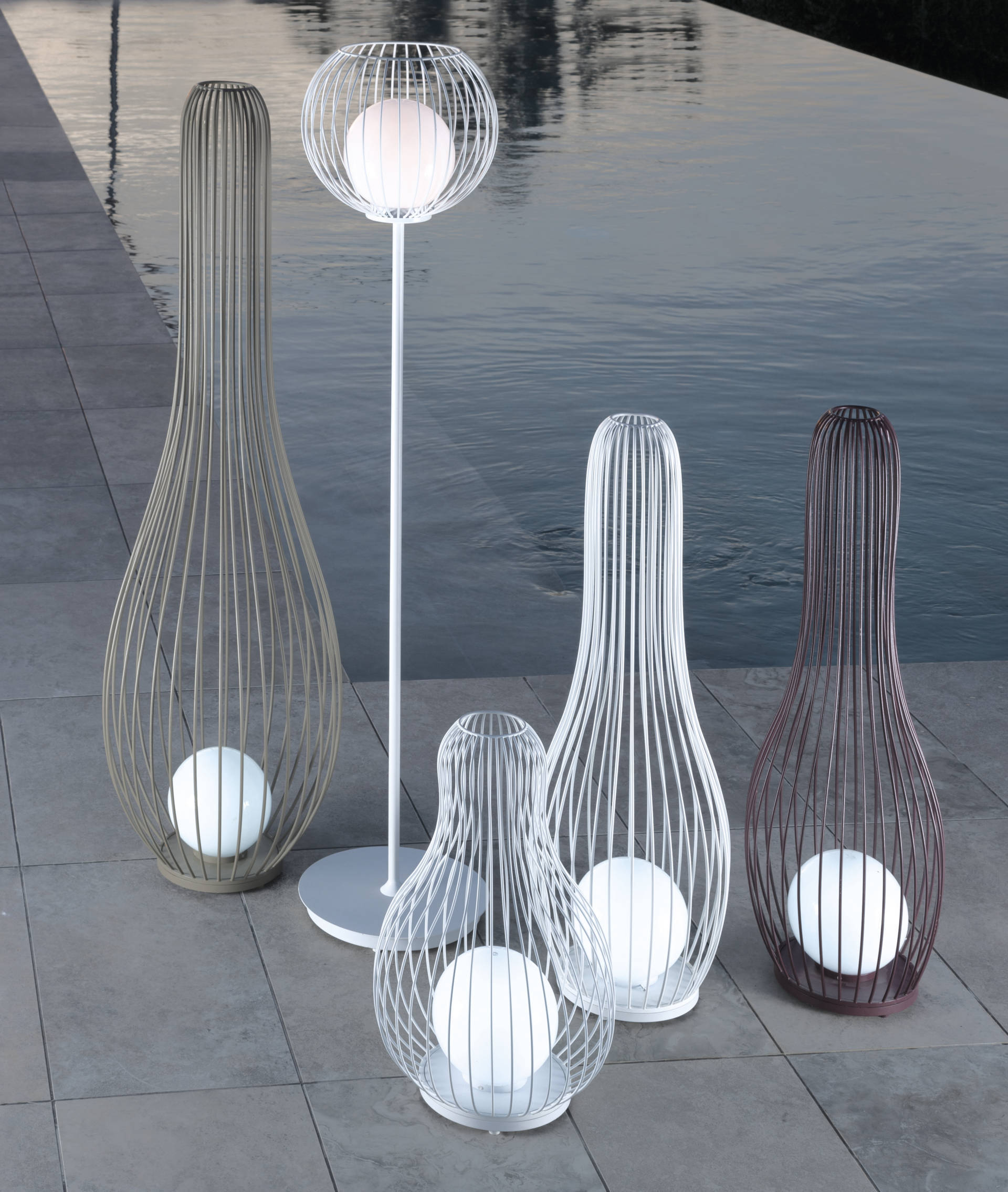 Vivereverde Lampada Da Terra 03 Milo Fabric Illuminazione Da