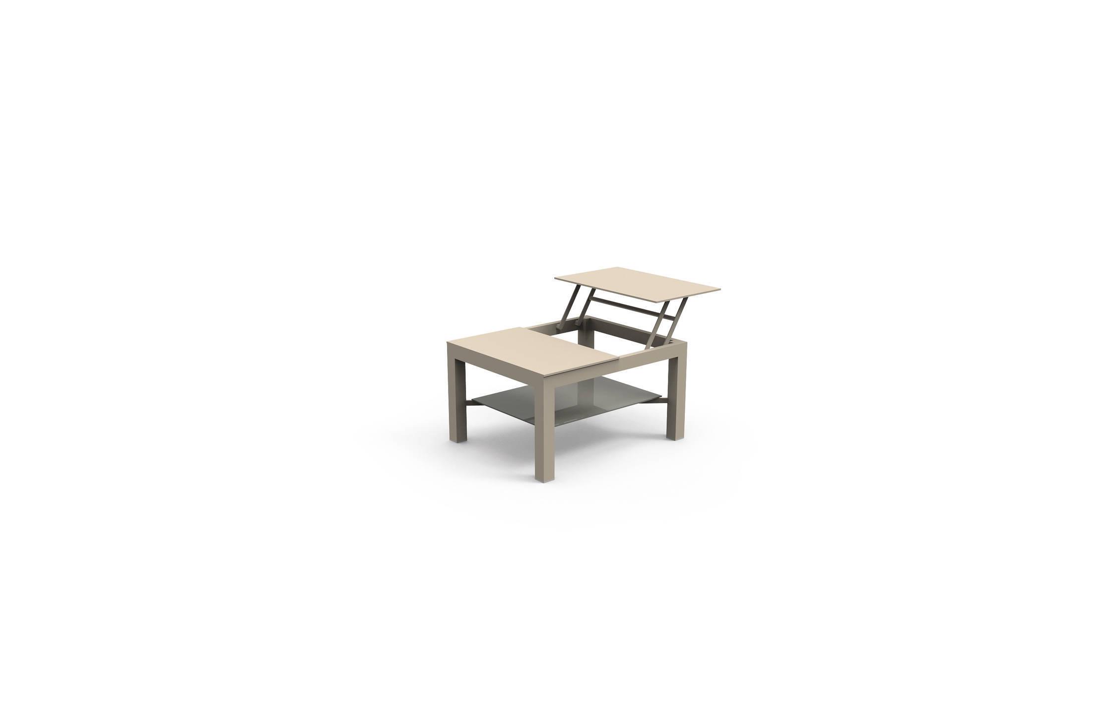 Vivereverde cover tavolo caffe apribile piccolo for Tavolini in ferro battuto per esterni