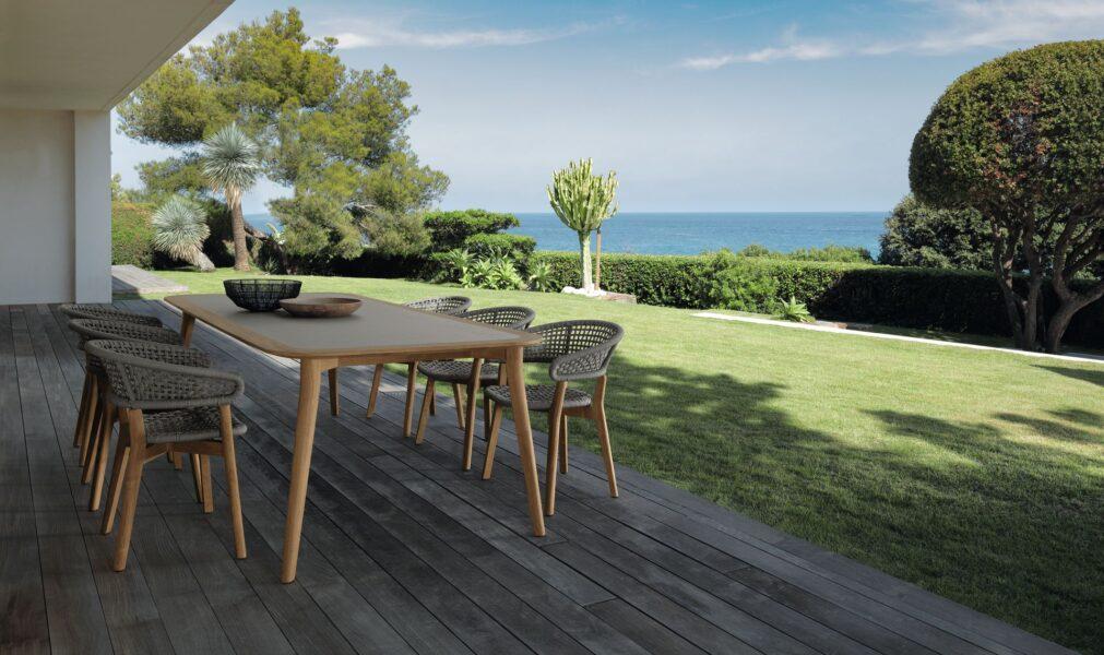 Vivereverde tavolo pranzo 260x110 mooncollection teak tavoli da giardino genova tavoli da - Tavoli da esterno genova ...