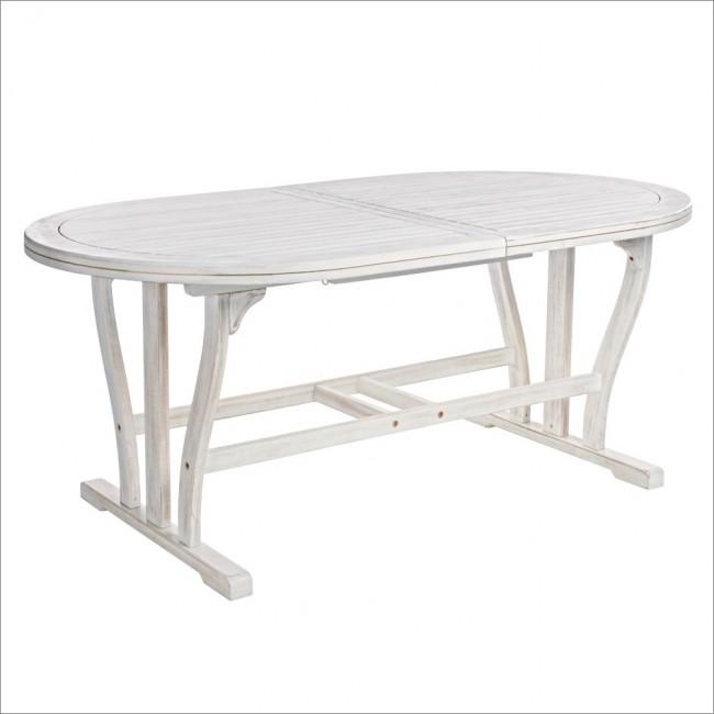 Vivereverde tavolo octavia ovale allungabile 180 240x100 tavolo da giardino 60x60 tavolo - Tavolo 70x70 allungabile ...