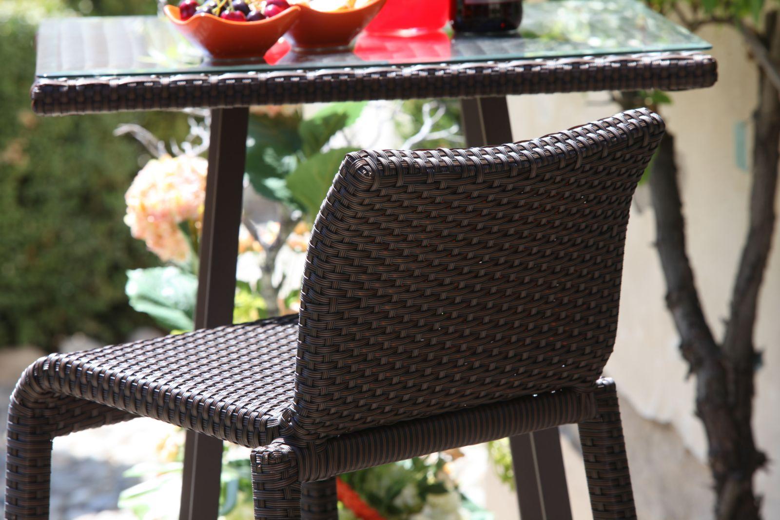 Vivereverde sgabello bar polyrattan adila sgabelli da giardino