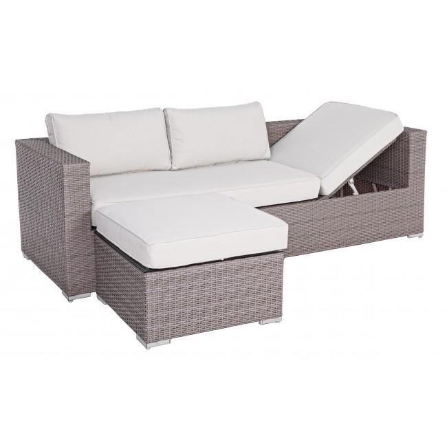 Vivereverde set 2 divano lettino c c carlyn divani da for Divani per esterno