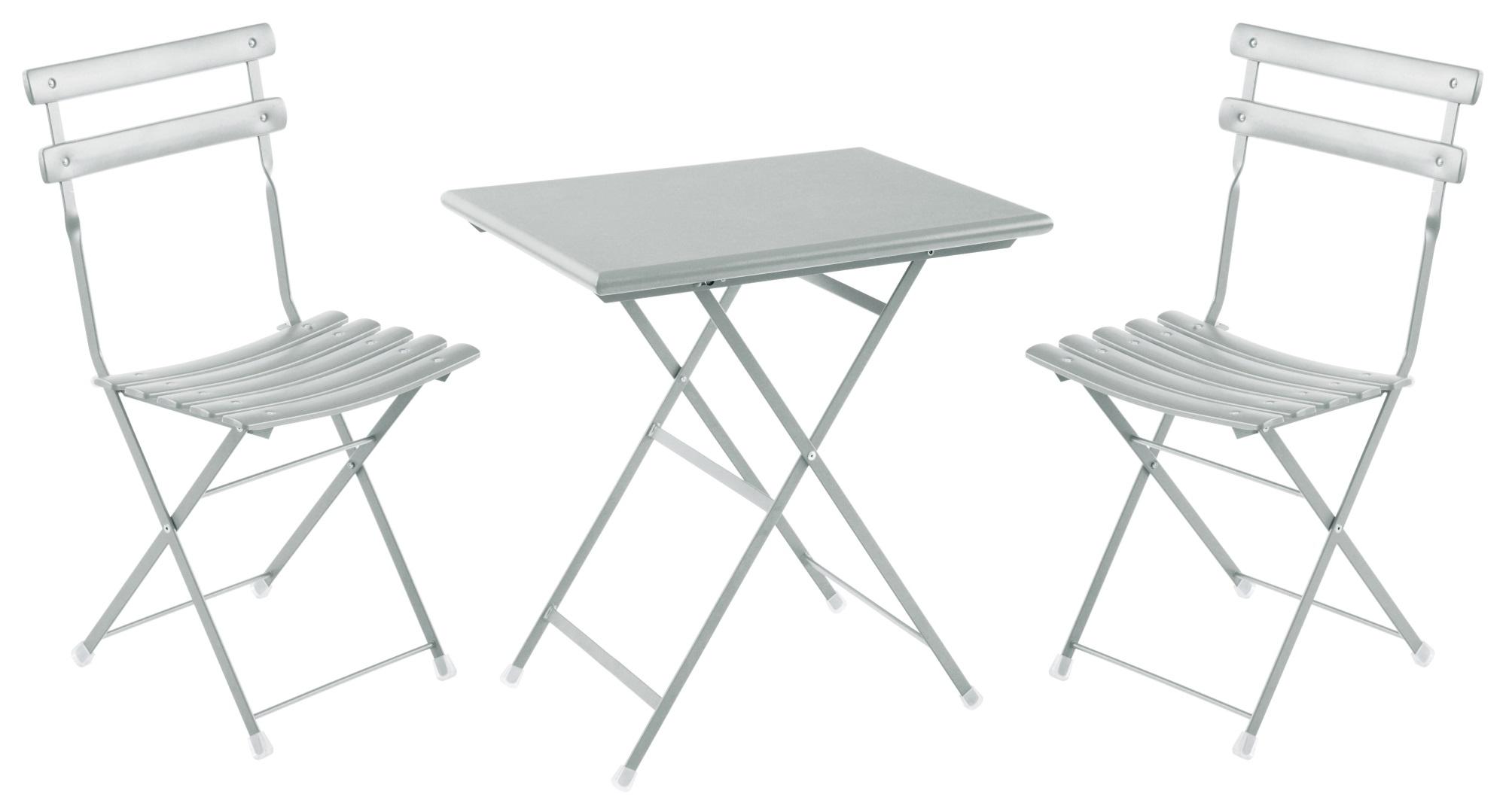 Tavoli E Sedie Da Giardino Emu.Vivereverde Set 2 Sedie Pieghevoli 1 Tavolo Pieghevole Arc En Ciel