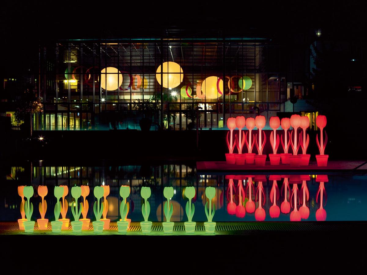 Lampada tulip xl outdoor illuminazione da esterno roma