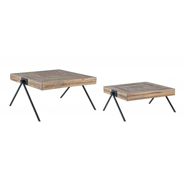 Tavolini Da Salotto Vintage.Vivereverde Set 2 Tavolino Leo Basso Tavolini Da Salotto