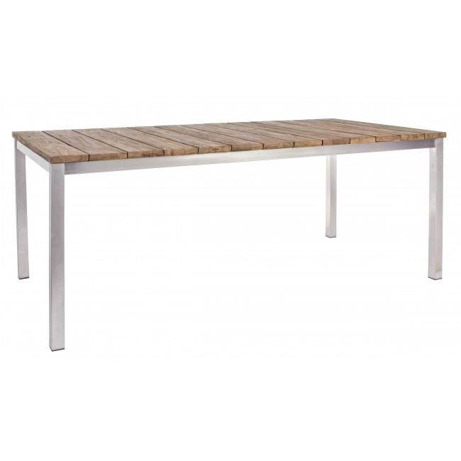 Vivereverde tavolo murphy teak riciclato 200x100 for Amazon tavoli allungabili