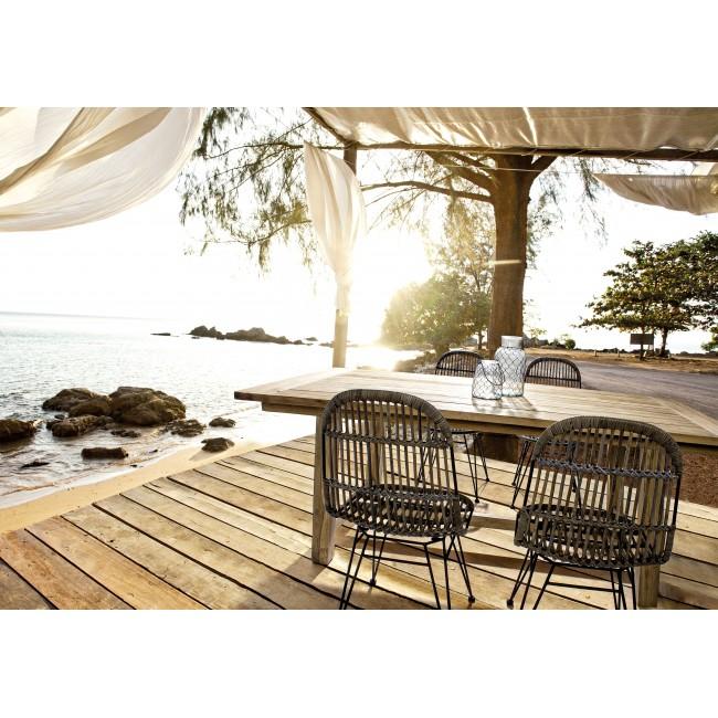 Vivereverde tavolo nairobi 200x100 fsc tavoli da for Torrisi arredi giardino catania