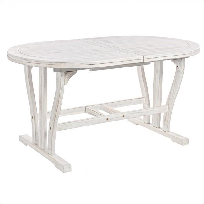 Vivereverde tavolo octavia ovale allungabile 150 200x90 tavoli da esterno 70x70 tavoli da - Tavolo 70x70 allungabile ...